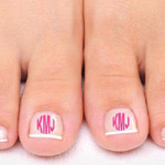 Monogram Nail Stickers