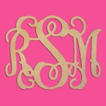 Interlocking MDF Monogram