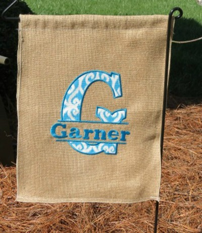 Personalized Applique Garden Flags ...