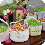Gingham Easter Baskets Personlized
