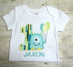 Birthday Monster Applique T-Shirt