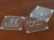 Personalized Acrylic Coaster Set