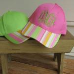 Multi-Stripe Monogrammed Hat