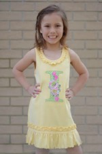 Rosie Applique Ruffle Dress