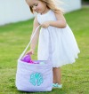 Personalized Seersucker Easter Bucket
