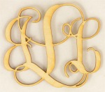 Interlocking Wood Monogram