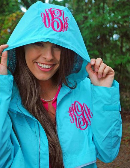 best collection choose clearance best sale Embroidery by Daphne New Englander Monogrammed Rain Jacket ...