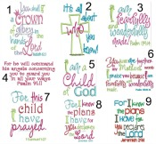 Bible Verse Infant Pillow