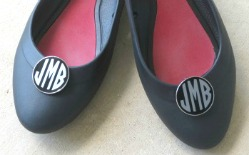 Monogrammed Shoe Clips
