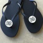 Monogrammed Shoe Clips