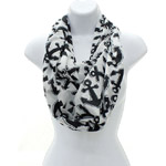 Nautical Infinity Scarf Black