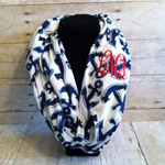 Nautical Infinity Scarf Navy Blue