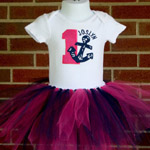 Nautical Birthday Tutu Set