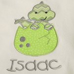 Baby Dragon Applique Onesie