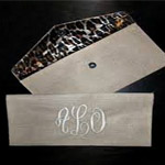 Natural Burlap Clutch - Monogrammed