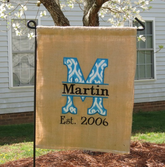Personalized Applique Garden Flags
