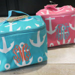 Monogrammed Anchor Cosmetic Case