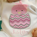 Hatching Chick Applique Onesie