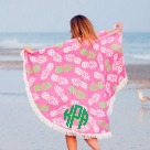 Circle Beach Towel with Monogram